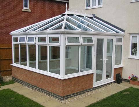 White Plastic & Glass Conservatory
