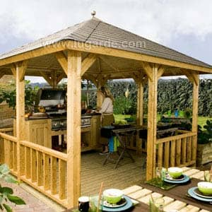 Gazebo Hawai with barbecue