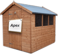 brown Apex Shed