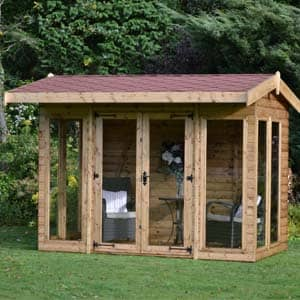 furnished askern summerhouse in garden