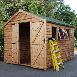 Cawthrone Shed with ladder outside