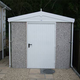 Grey Concrete Shed