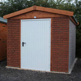 Concrete and Brick Shed