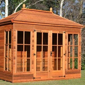 summerhouse in brown