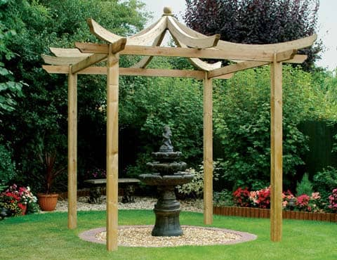 dragon pergola for garden