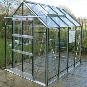 simple greenhouse in garden