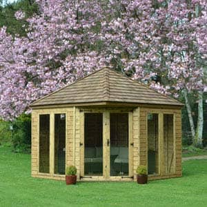 henley summerhouse in garden