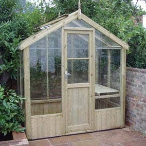 kingfisher greenhouse made of wood