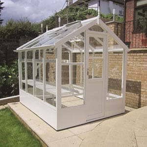 Kingfisher greenhouse in White