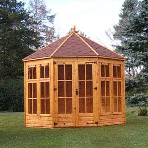 kingstone summerhouse in brown