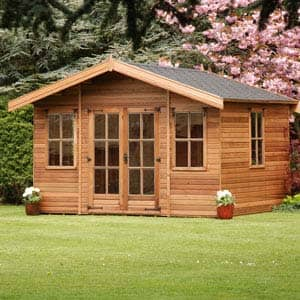 milan summerhouse in garden