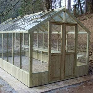 greenhouse raven made of wood