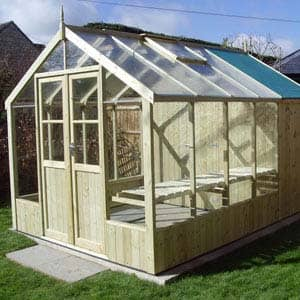 Raven Combination Greenhouse made of wood