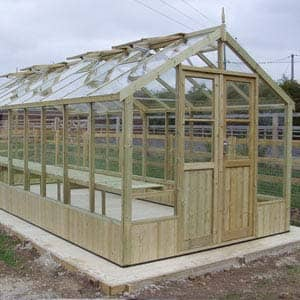 Large Raven greenhouse made of wood