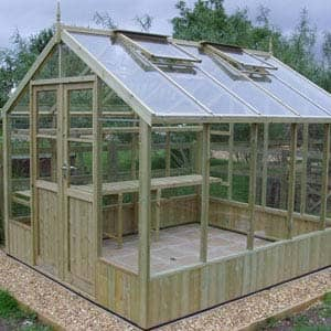 Small raven greenhouse for garden