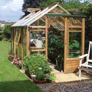 redar greenhouse in garden
