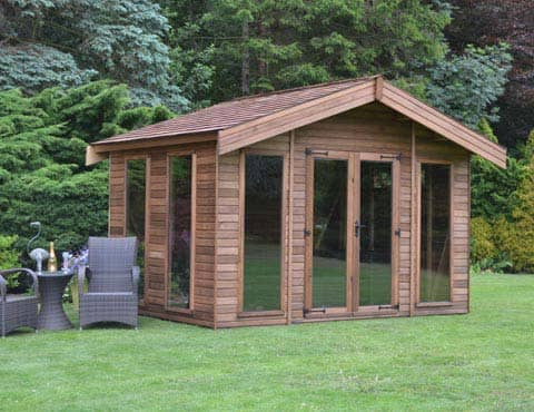 Riviera Summerhouse with garden furniture