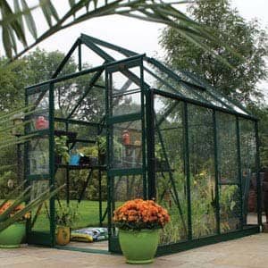 Strata greenhouse in garden