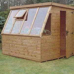 suntrap shed for planting flowers