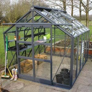 titan greenhouse with sliding doors