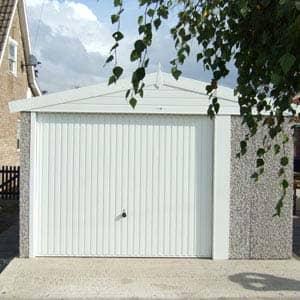 singe unique White Apex garage