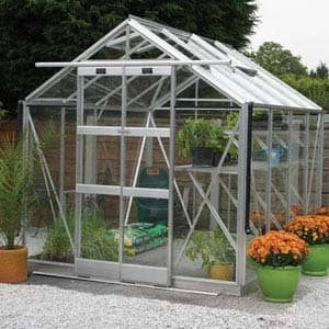 Vantage greenhouse with sliding doors