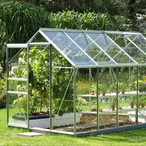 Venus greenhouse with lots of plants in side