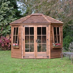 wingrove summerhouse with flowers