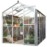 alu greenhouse with vegetables