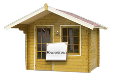 brown Barcelona Log Cabin