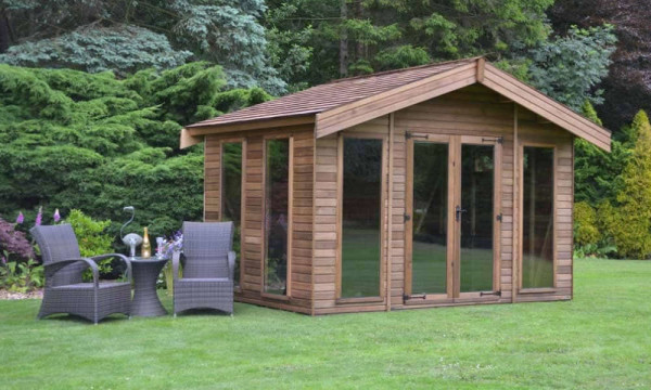 summer house with seating area